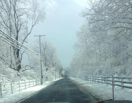 Apple Creek Landscaping Snowy Road Colts Neck